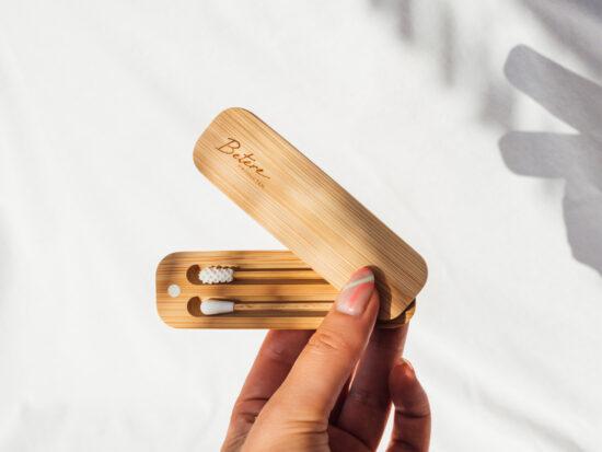 Herbruikbare wattenstaafjes van bamboe